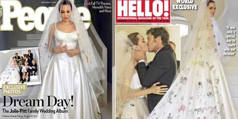Angelina Jolies kreatives Brautkleid