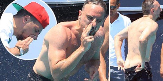 Franck Ribéry: So eklig im Yachturlaub