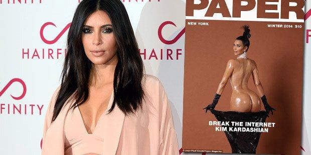 Kim Kardashian zeigt nackten Po