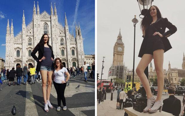 Sie hat die längsten Beine der Welt