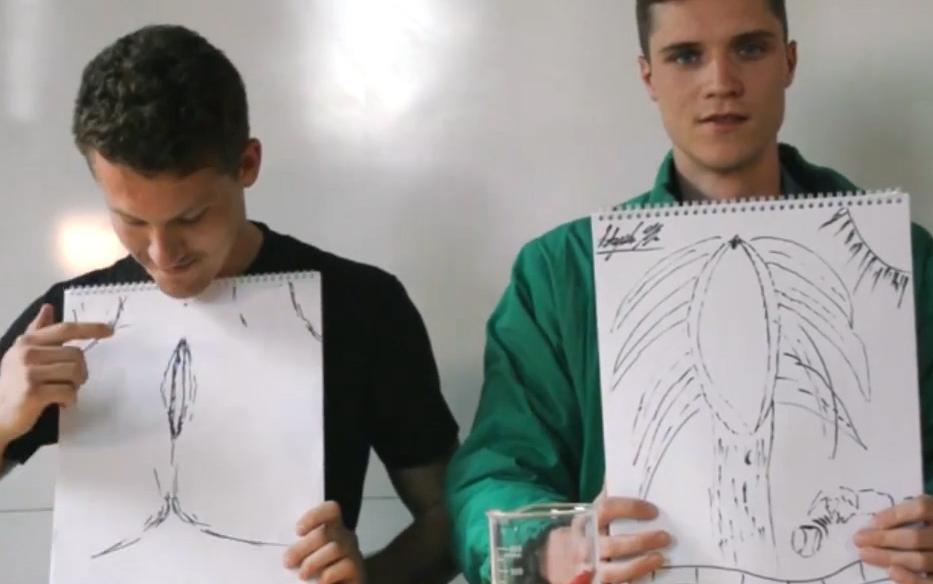 Männer zeichnen