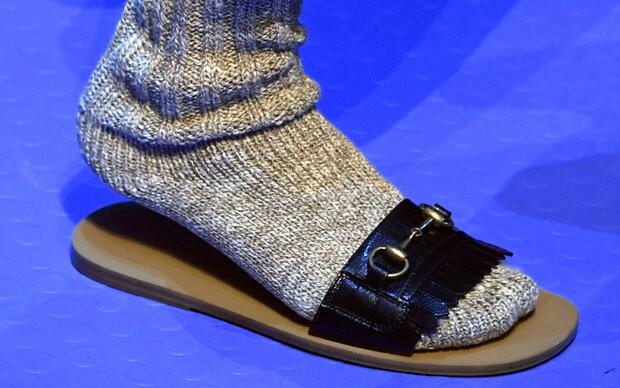 Trend: Socken in Schlapfen