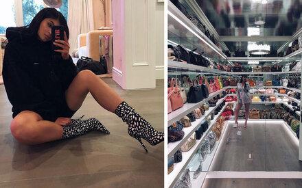 Kylie Jenner zeigt ihr Taschen-Reich