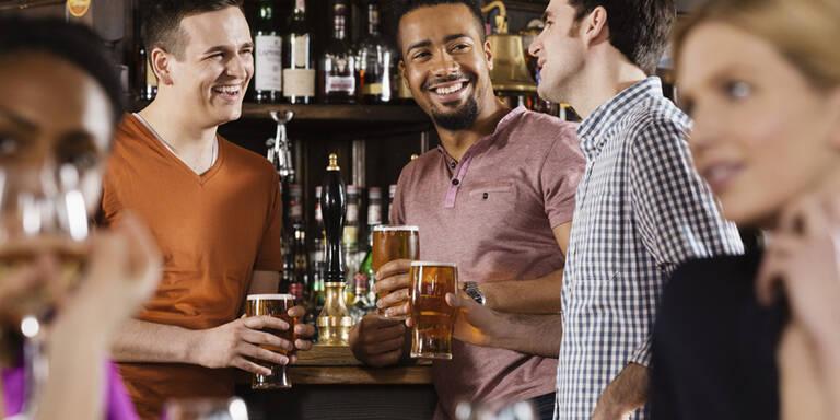 Betrunkene Männer kommen bei Frauen gut an