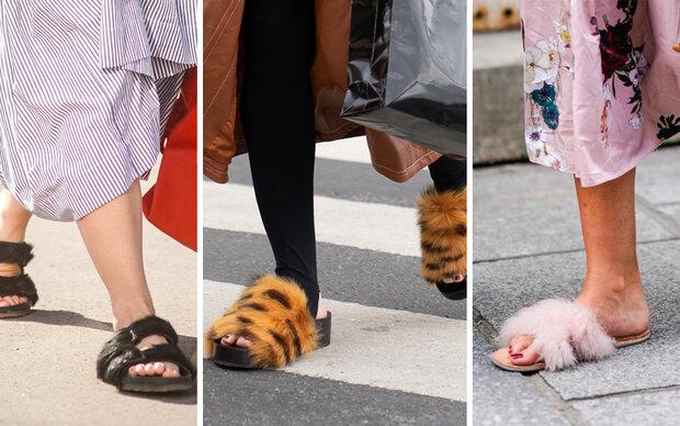 Pelz im Sommer? Fell-Sandalen erhitzen die Gemüter