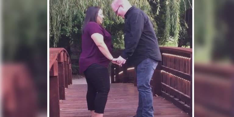 Dieser Hochzeitsantrag fiel ins Wasser