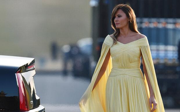 Alle sprechen über Melanias Kleid