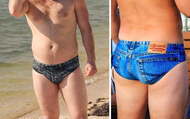 Jeans + Badehose: Der skurrilste Trend des Sommers