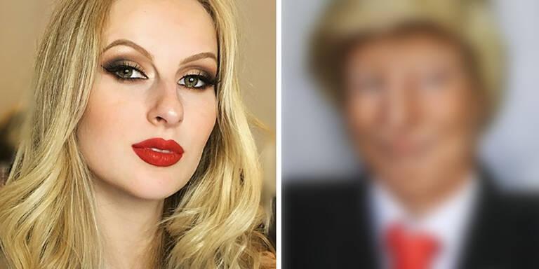 Bloggerin verwandelt sich in Donald Trump