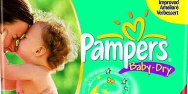Goldener Schlaf mit Pampers Baby-Dry