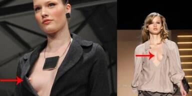 Nippelalarm am 1. Tag der Fashion Week