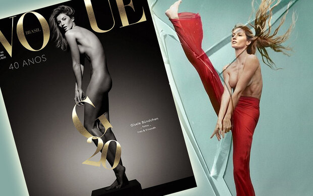So sexy feiert Gisele ihr Vogue-Jubiläum