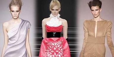 Mini und Tüll auf Pariser Modewoche