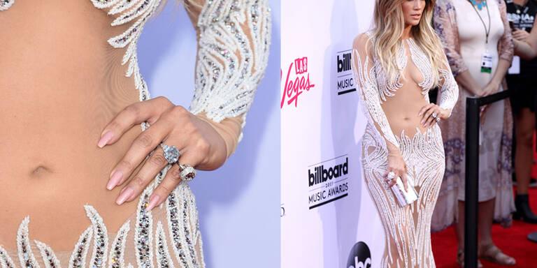 J.Lo im heißen Nackt-Kleid