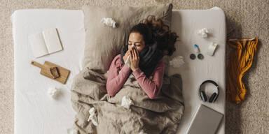 Krank Grippe