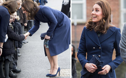 Herzogin Kate trägt 73-Euro-Kleid