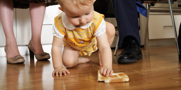 Sollte gegessen werden, was schon am Boden lag?