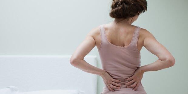 70 Prozent haben monatlich Rückenschmerzen