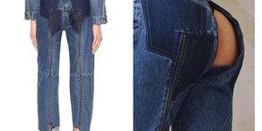 Jeans mit Po-Fenster
