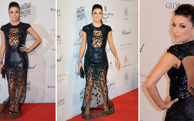 Eva Longoria in fragwürdigem Kleid