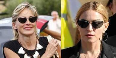 Style-Twins: Madonna und Sharon Stone