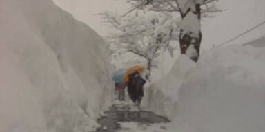 53 Tote: Heftige Schneefälle in Japan
