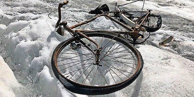 Gletscher-Fahrrad gibt Rätsel auf