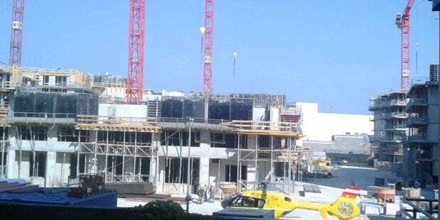 Arbeiter stürzt auf Baustelle 10 Meter in den Tod