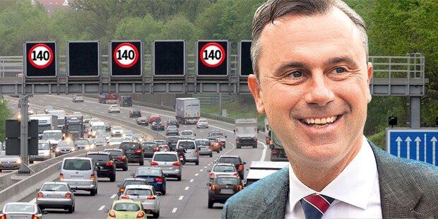 140 km/h bald auf allen Autobahnen