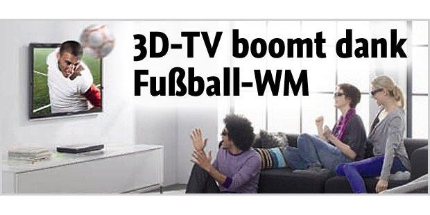 Ansturm auf 3D-Fernseher