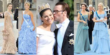 3 Royale Pracht Kleider Roben der Schweden Hochzeit Style-Check