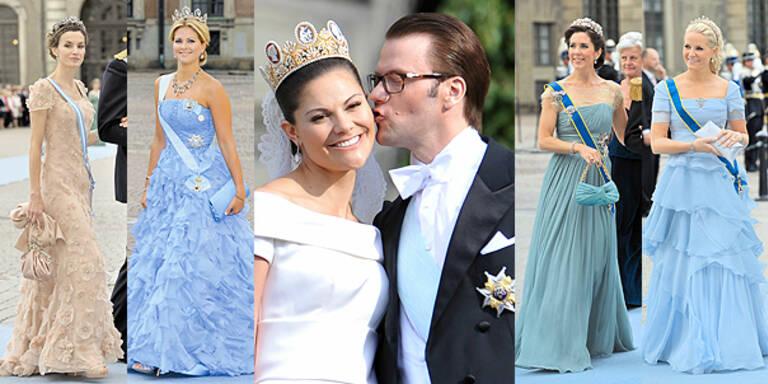 Royale Pracht Kleider Roben der Schweden Hochzeit Style-Check
