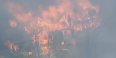 Verheerende Großfeuer wüten in den USA
