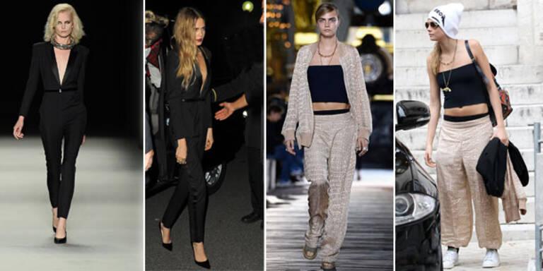 Cara trägt jetzt schon die Catwalk-Outfits