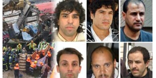 Höchststrafe und Freisprüche für Madrid-Bomber