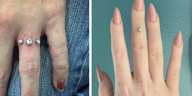 Irrer Trend: Diamant-Piercing statt Ring