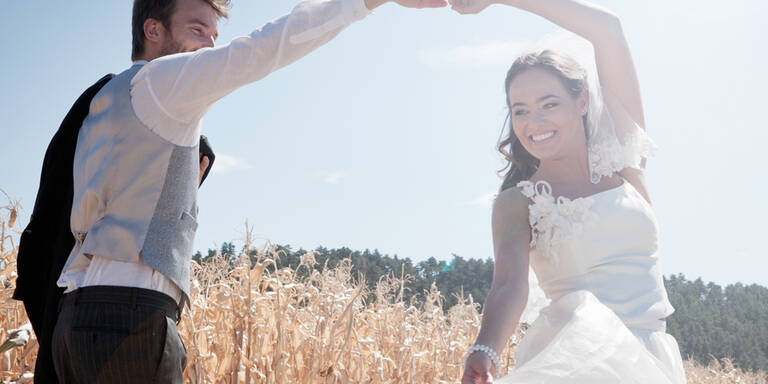 So punktet das Brautpaar am Tanzparkett