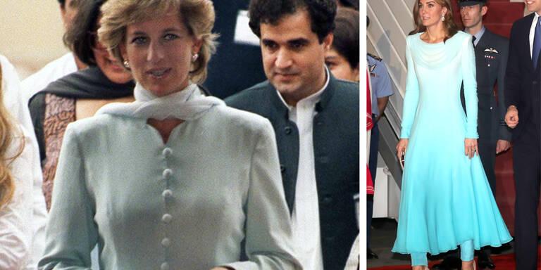 Herzogin Kate im Diana-Look