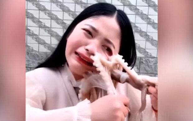 Bloggerin wollte Oktopus lebendig essen, doch dieser biss zurück