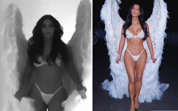 Kardashians verkleideten sich als Dessous-Engerl