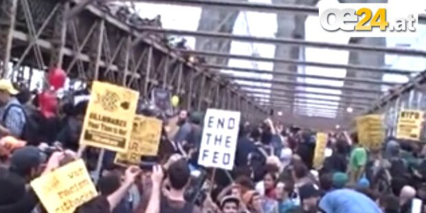Brutale Polizei bei Protesten in New York