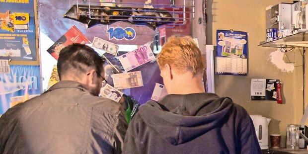 Teenie-Bande verspielte Beute an Automaten