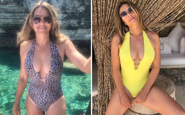 Elizabeth Hurleys sexy Bikini-Parade