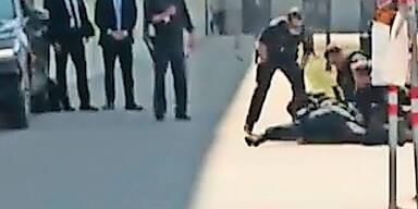Täter lauerte mit Machete vor dem Kanzleramt