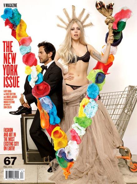 Lady Gaga als Freiheitsstatue in Dessous im V Magazine