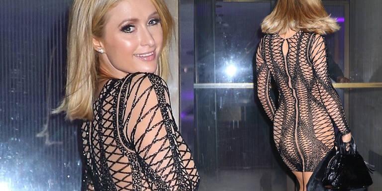 Paris Hilton im Fast-Nackt-Look