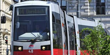 Straßenbahn in Wien beschossen