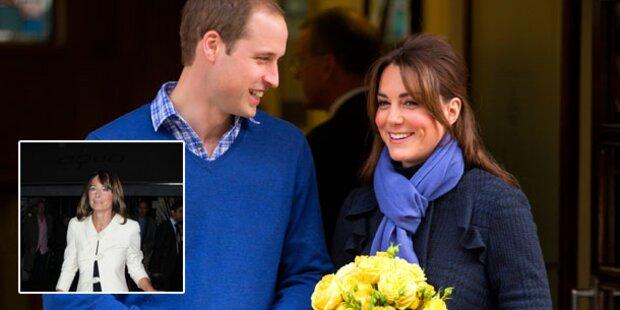 Kate: Zieht sie nach der Geburt zu ihren Eltern?