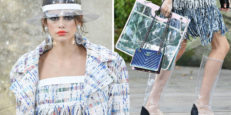 Karl Lagerfeld zeigt Plastik-Kollektion