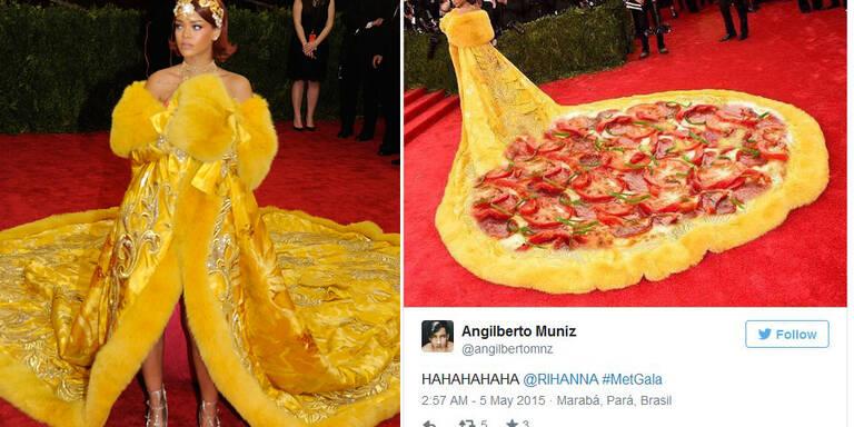 Das Internet lacht über Rihannas Kleid